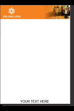 Dark Orange Color Letter Head
