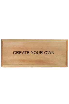 Create Your Own Pine Wood Nameplate