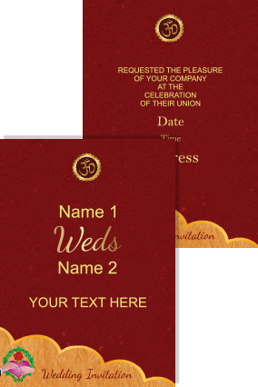 Amazing Red Color Wedding Invitation Card