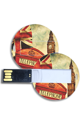 Clock Tower Theme Round Shape Pen Drive
