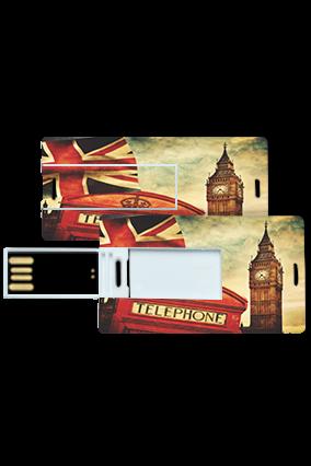 Clock Tower Theme Mini Card Pen Drive