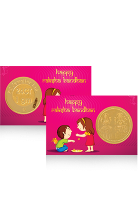 Personalized Pink Colored Gold Coin