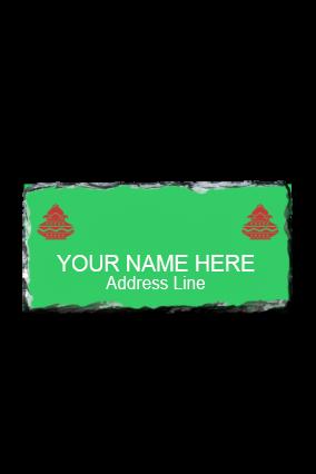Green Photo Rock Nameplate