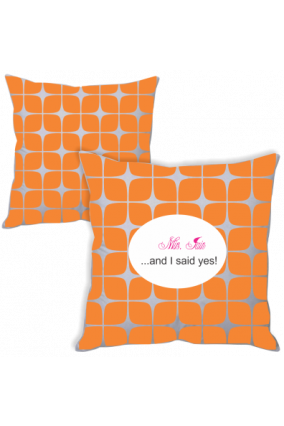 Lovey Dovey Orange Cushion Cover