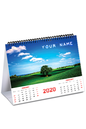 Cool Desk Name In Image Table Calendar (8x6 Inches) - 6 Leaves