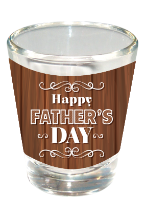 Cool Happy Fathers Day Shot Glass