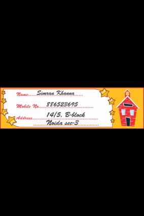 Set of 25 Pcs Red Hut Label Stickers