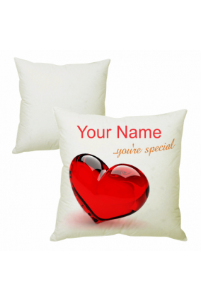 Red Heart Cushion Cover