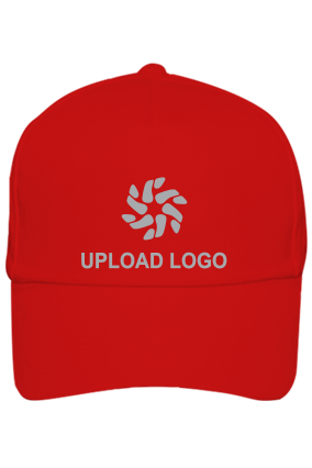 Upload Logo Custom Red Cap