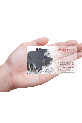 Corporate Architecture Transparent Business card ...