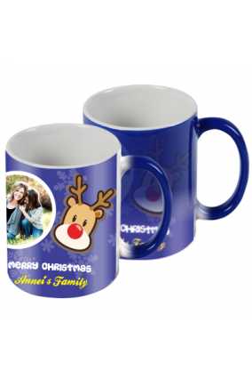 Designer Yuletide Spirit Blue Magic Mug