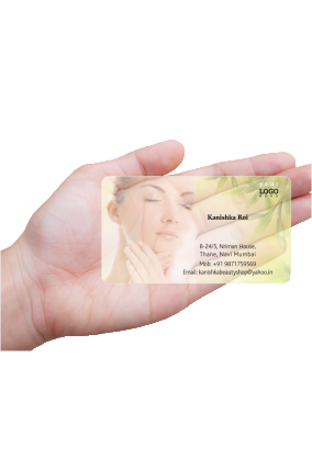 The Dreamboat Beauty Transparent Business card