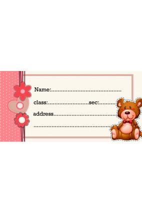 Set of 25 Pcs Brown Teddy Sticker