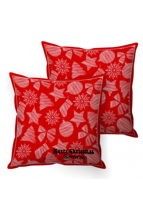 Yuletide Spirit Red Cushion Cover