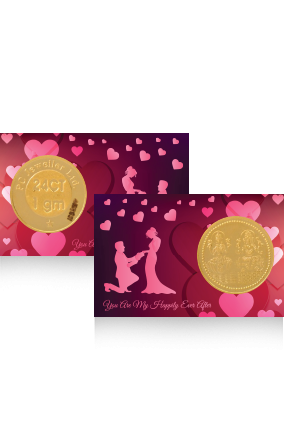 Customized Heartful Laxmi Gold Coin