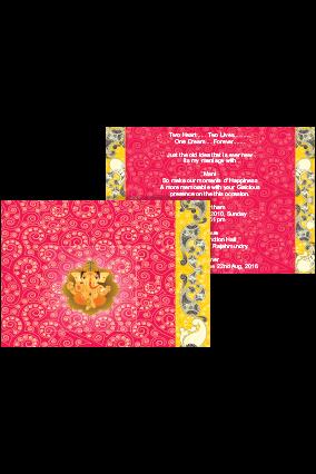 Customized Lotus Pink Wedding Invite