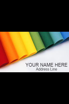 Colored Metal Nameplate