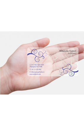 Plastic business cards online india choice image card for Transparent business card template
