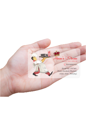 Food Buzz Restaurant Transparent Business card