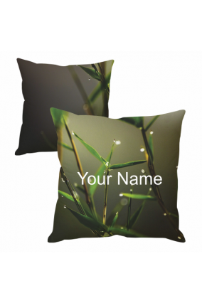 Dew on Leaves Cushion Cover