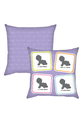 Blue Baby Cushion Cover