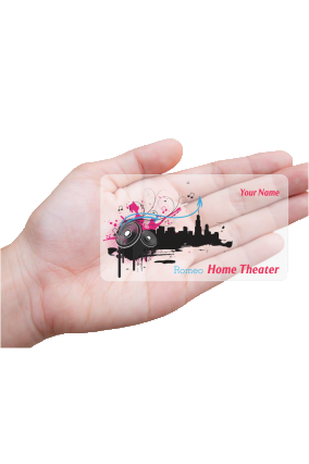 Dreamboat DJ Transparent Business card