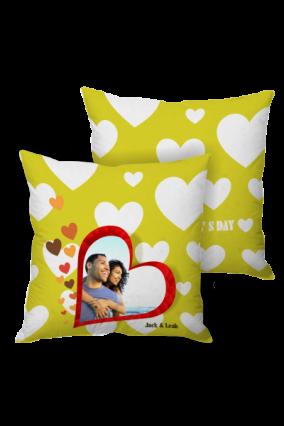 Neon Dreams Valentine Day Cushion Cover