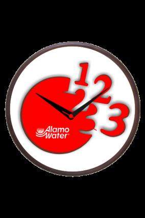 Numero Red Wooden Clock