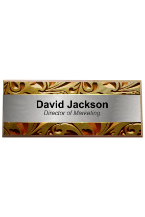Floral Musings Pine Wood Name Plate