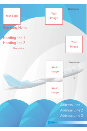 Blue Travel Industry Poster