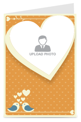 Customized Tweeting Lovebirds Valentine Day Greeting Card