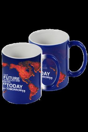 Blue Global Magic Mug