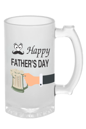 Happy Fathers Day Frosted Beer Mug
