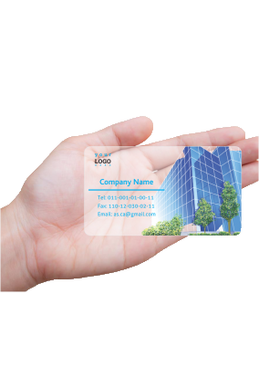 Corporate Chartered Accountant Transparent Business card (Pack of 500)