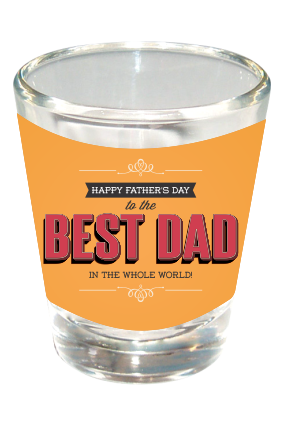 Best Dad Happy Fathers Day Shot Glass