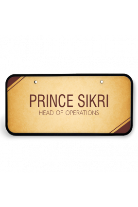 Golden Glow Wooden Name Plate