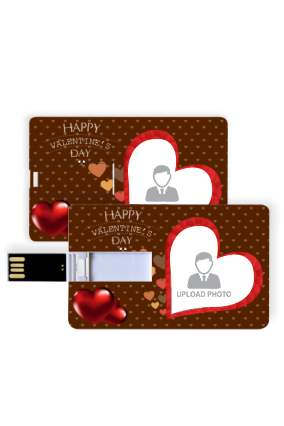 Chocolate Hearts Valentine Day Credit Card Shaped Pen Drive