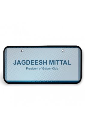 Digital Blue Wooden Name Plate