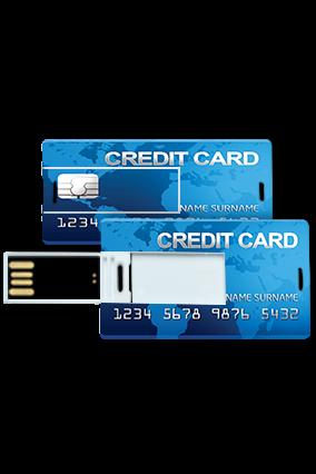 Light Blue Credit Card Mini Card Pen Drive