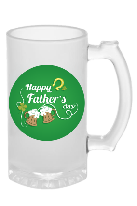 My Dad My Hero Frosted Beer Mug