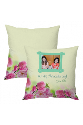 Friendship Day Blue'n Pink Cushion Cover