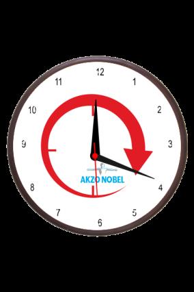Exquisite Red Wooden Clock
