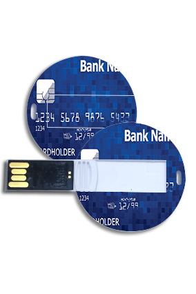 Bank Name  Round Shape Pen Drive