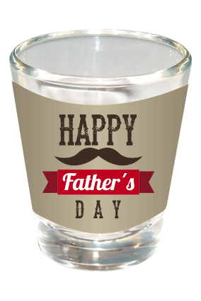 Awesome Happy Fathers Day Shot Glass