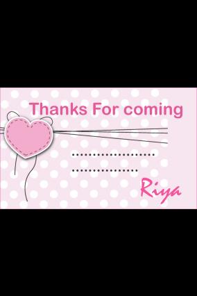 Customize Cute Heart Gift Card