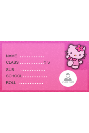 Cute Kitty School Label