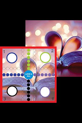 Customized Valentine themed ludo