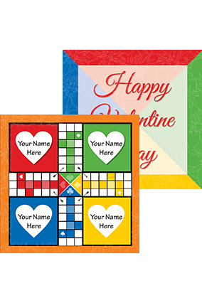 Customize name and heart ludo