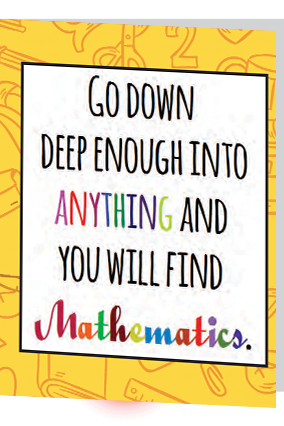 Customized Math Quote Folder