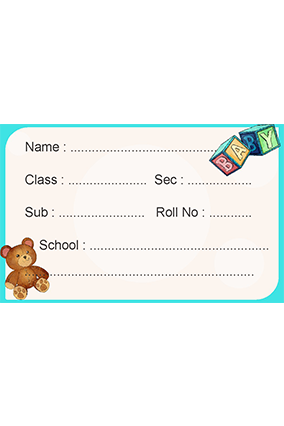 Set of 25 Pcs Customized Teddy bee Kids Sticker